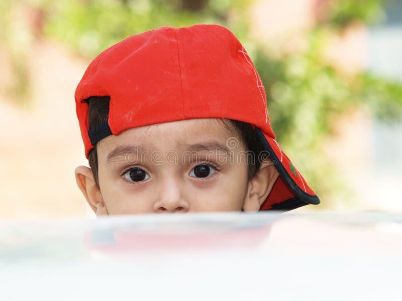 Menino asiático com chapéu imagem de stock royalty free