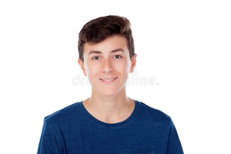 Menino caucasiano novo de Brown foto de stock