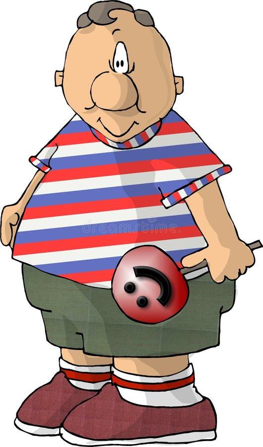 Menino Chubby com um otário ilustração stock
