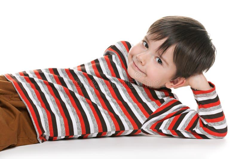Menino da criança em idade pré-escolar fotografia de stock