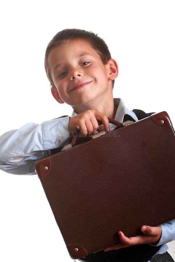Menino da escola primária fotos de stock