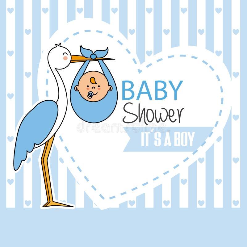 Menino da festa do bebê ilustração stock