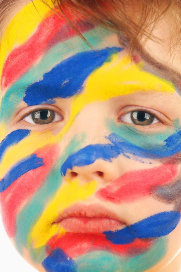Download Menino Da Pintura Da Cor Do Retrato Foto de Stock - Imagem de arte, escola: 12808350