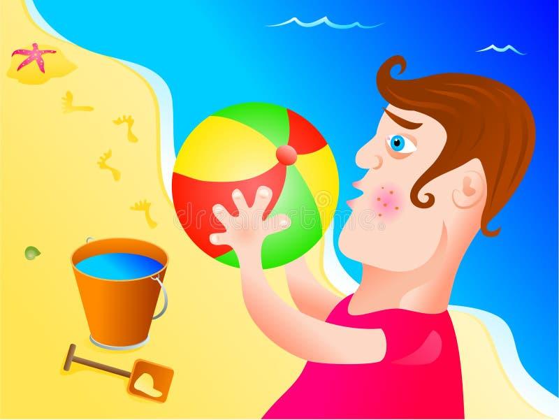 Menino da praia ilustração do vetor