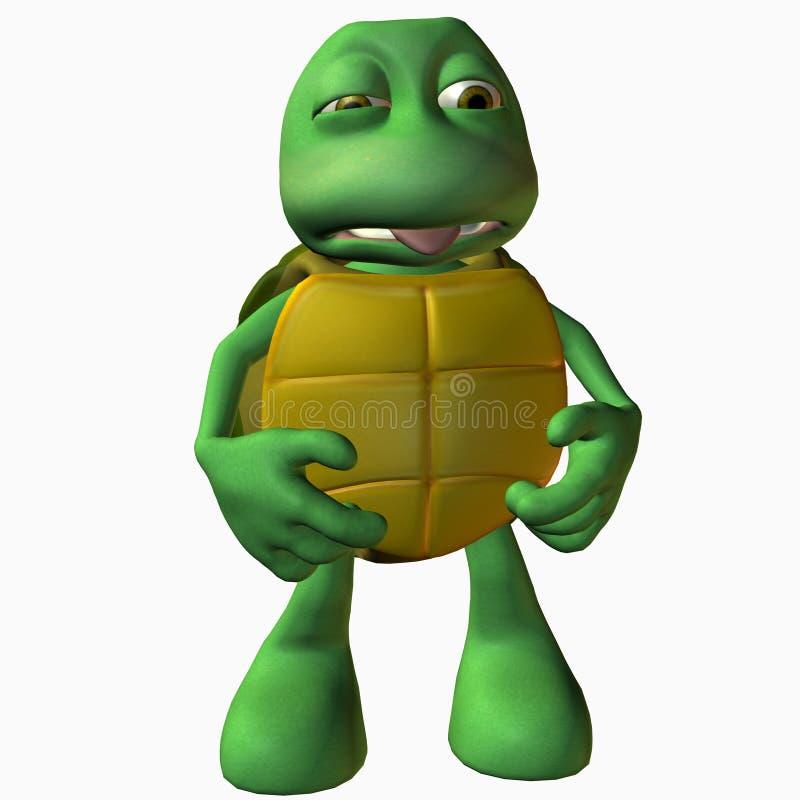 Menino da tartaruga - barriga ácida ilustração stock