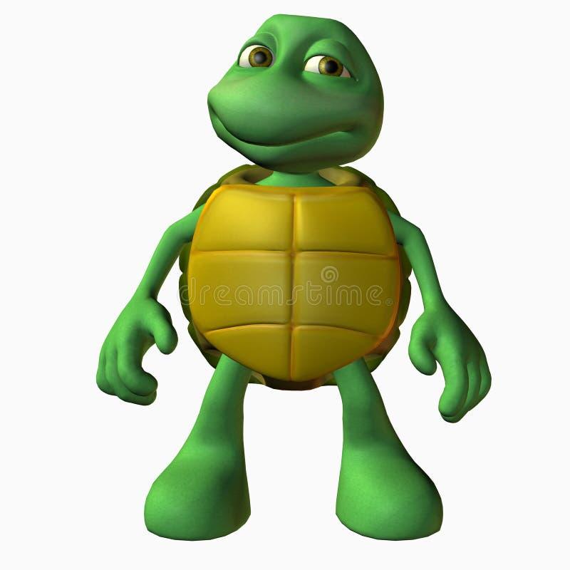 Menino da tartaruga - estando ilustração royalty free