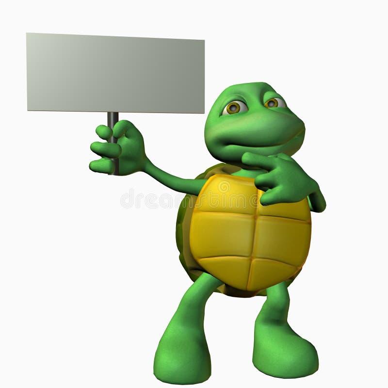 Menino da tartaruga - olhar aqui ilustração royalty free