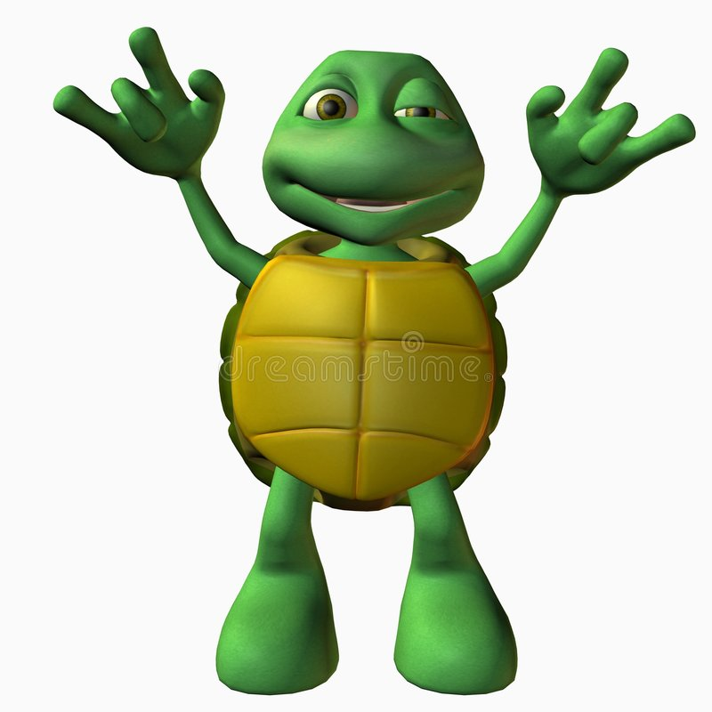 Menino da tartaruga - rocha sobre ilustração stock