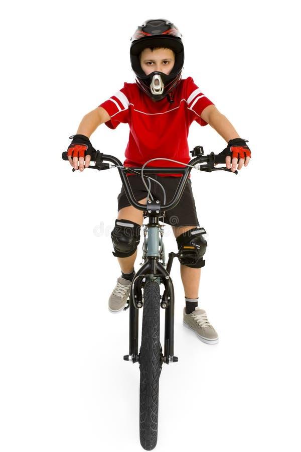 Menino de BMX imagem de stock