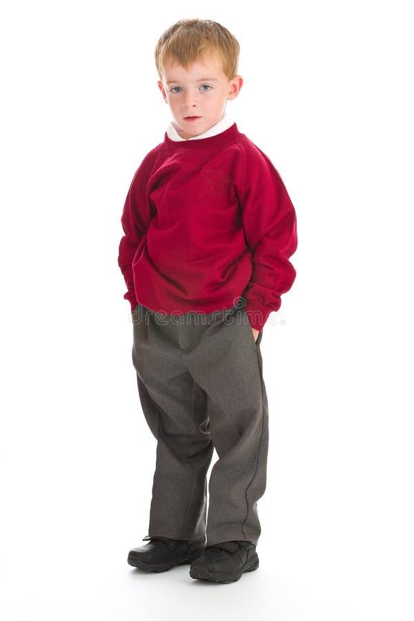 Menino de escola no uniforme fotos de stock