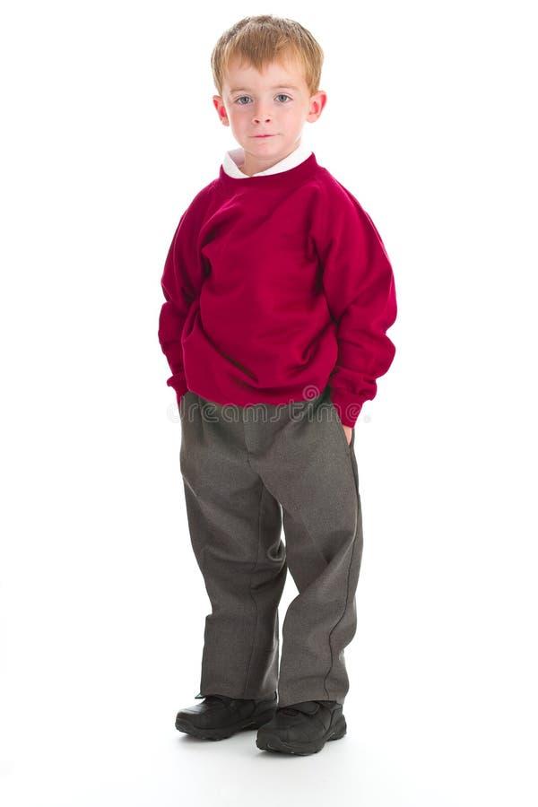 Menino de escola no uniforme fotos de stock royalty free