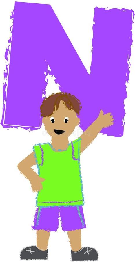Menino de N/eps ilustração do vetor
