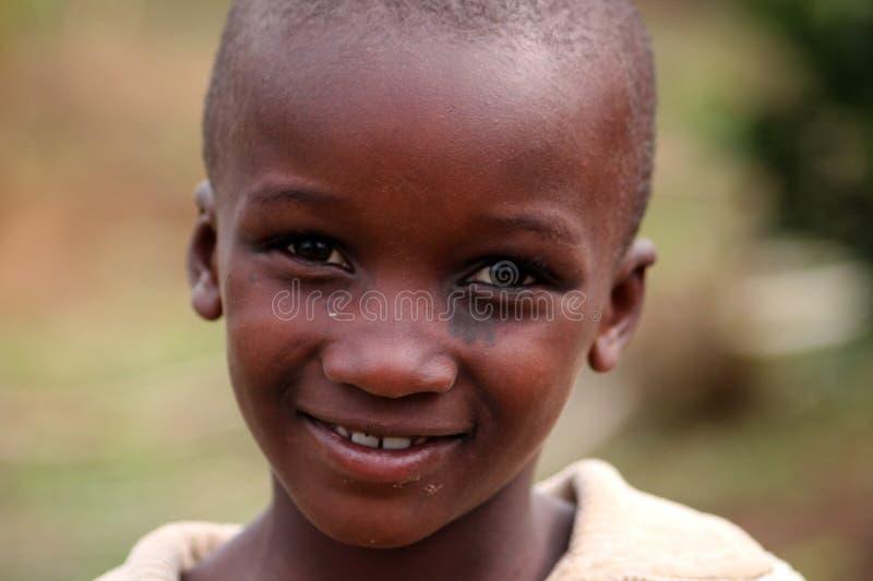 Menino de Rwanda imagens de stock