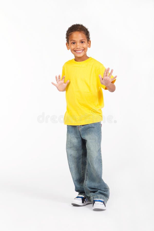 Menino do africano do Preteen foto de stock