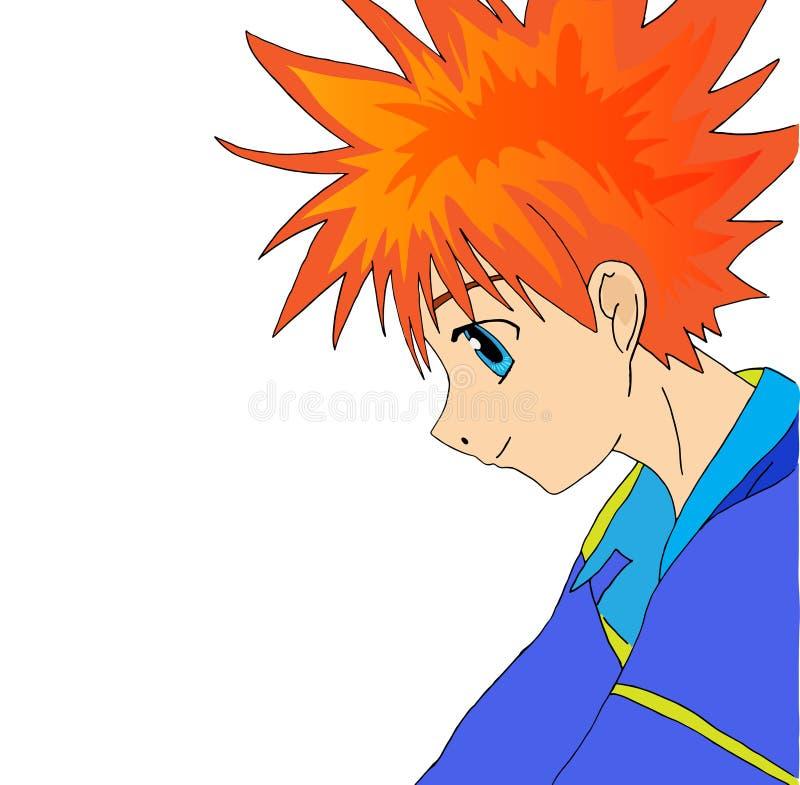 Menino do Anime ilustração do vetor
