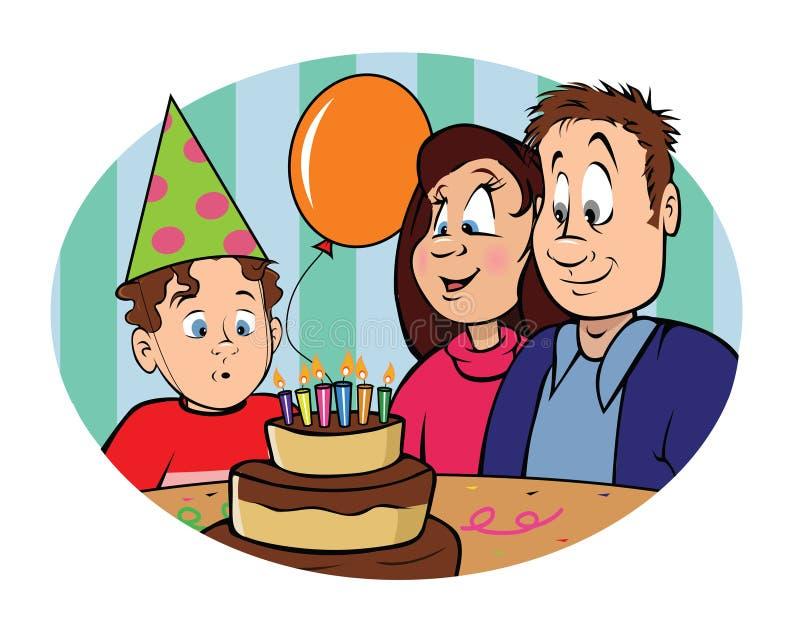 Menino do aniversário ilustração stock