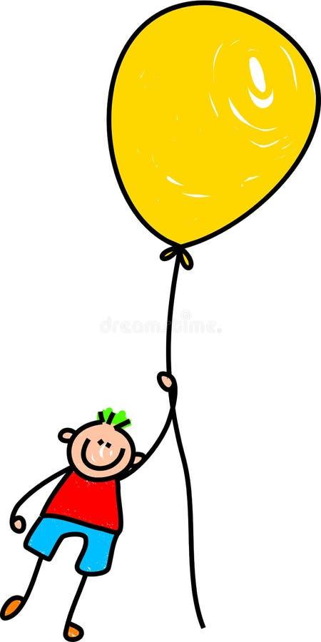 Menino do balão ilustração stock