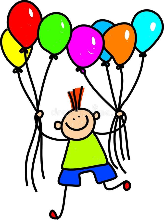 Menino do balão ilustração royalty free