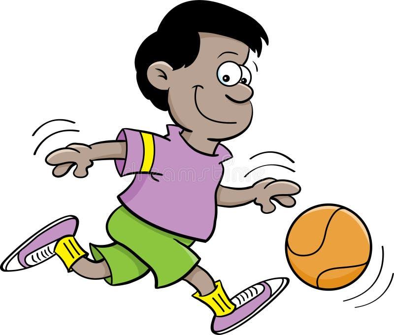 Menino do basquetebol ilustração stock