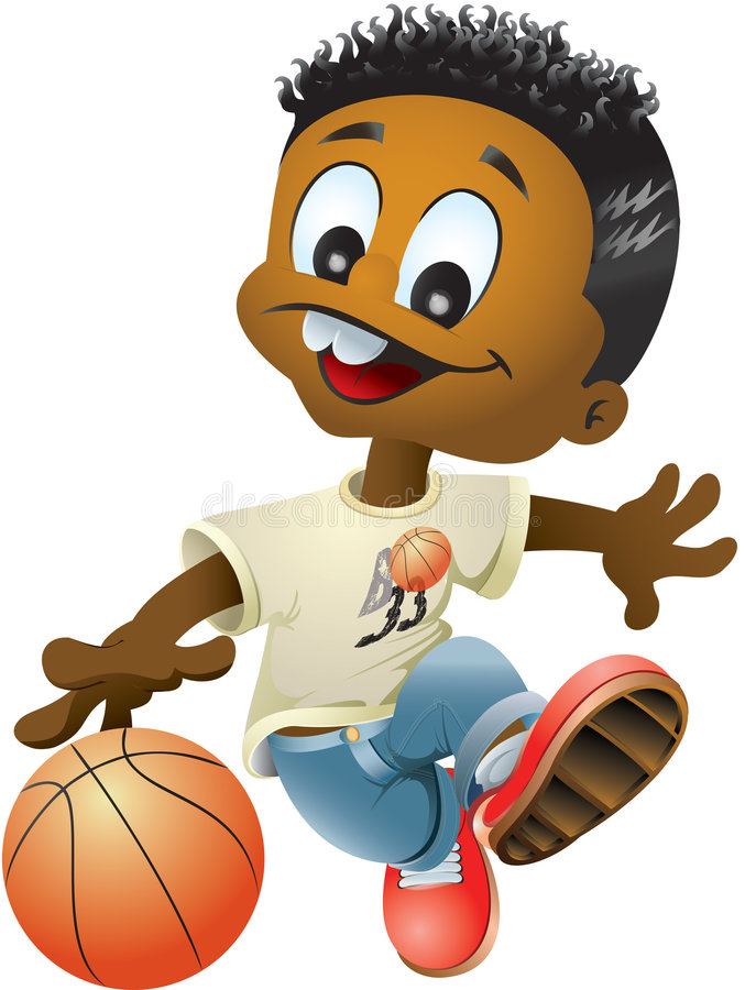 Menino do basquetebol ilustração do vetor
