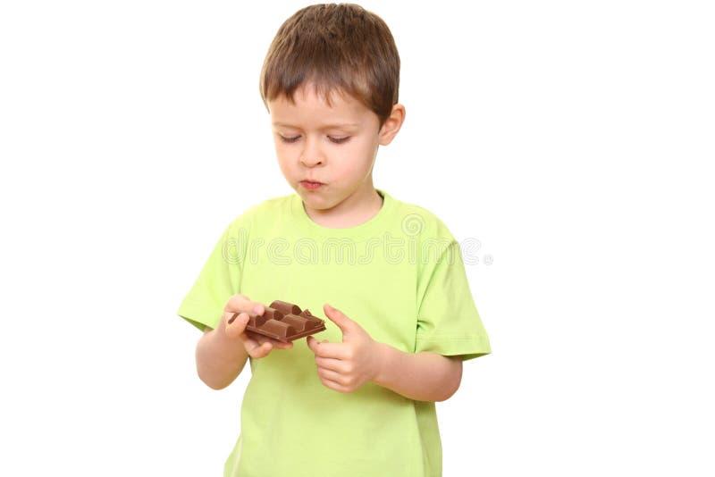 Menino do chocolate fotos de stock royalty free