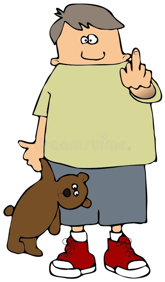 Menino do dedo ilustração do vetor