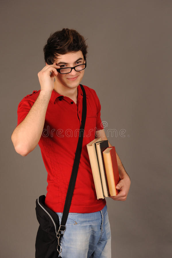 Menino do estudante. fotografia de stock
