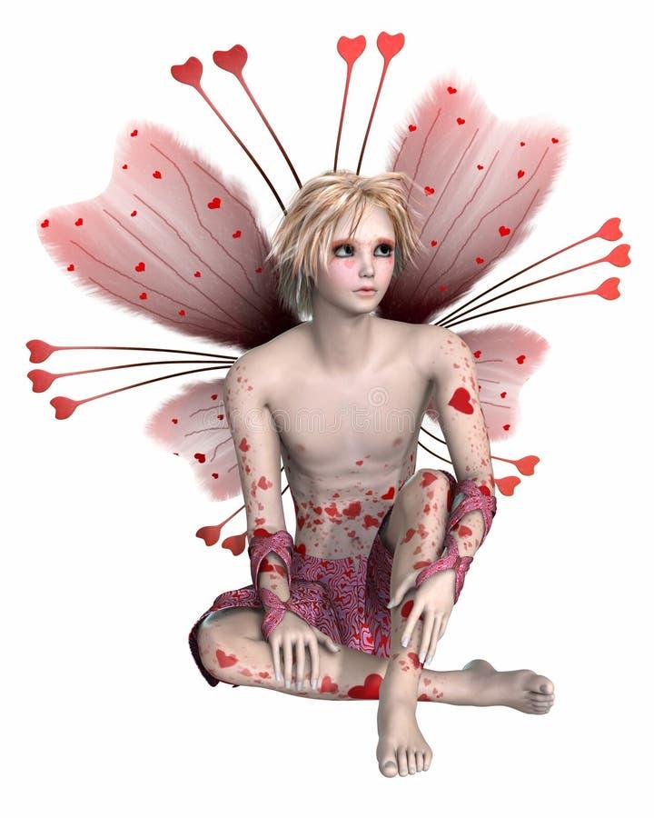 Menino do Fairy do Valentim ilustração royalty free
