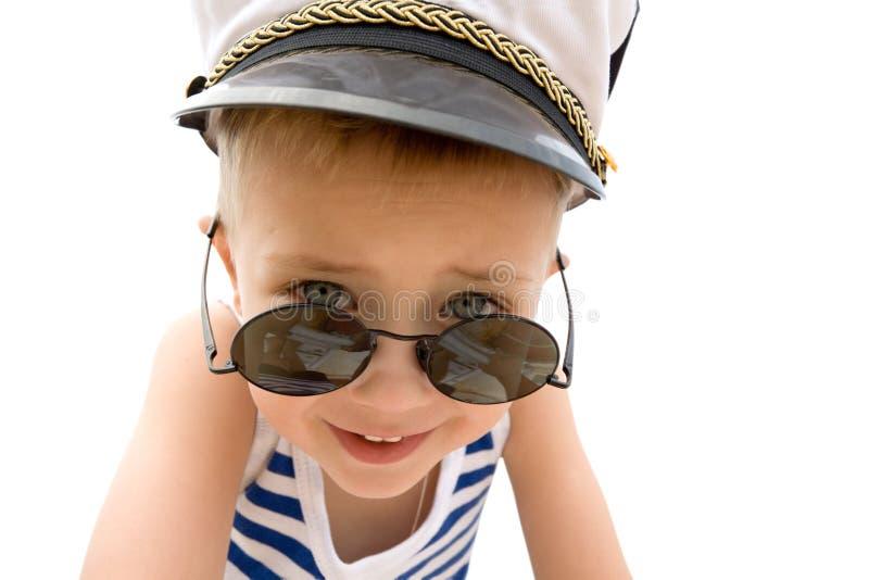 Menino do navio (cadete). Tampão. imagem de stock