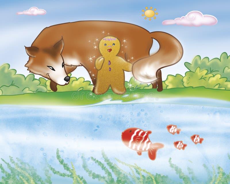 Menino do pão-de-espécie - rio ilustração do vetor