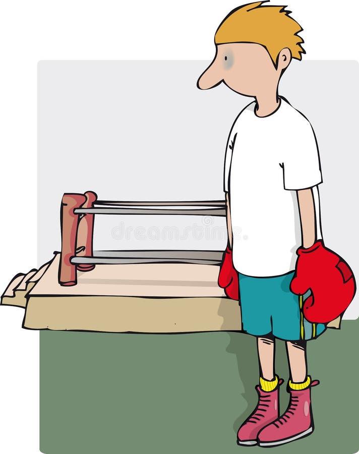 Menino do pugilista ilustração royalty free