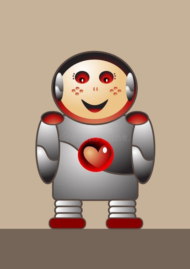 Menino do robô ilustração stock