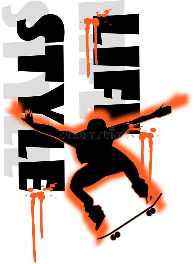menino do skate ilustração do vetor