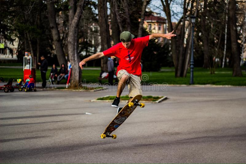 Menino do skater fotografia de stock royalty free
