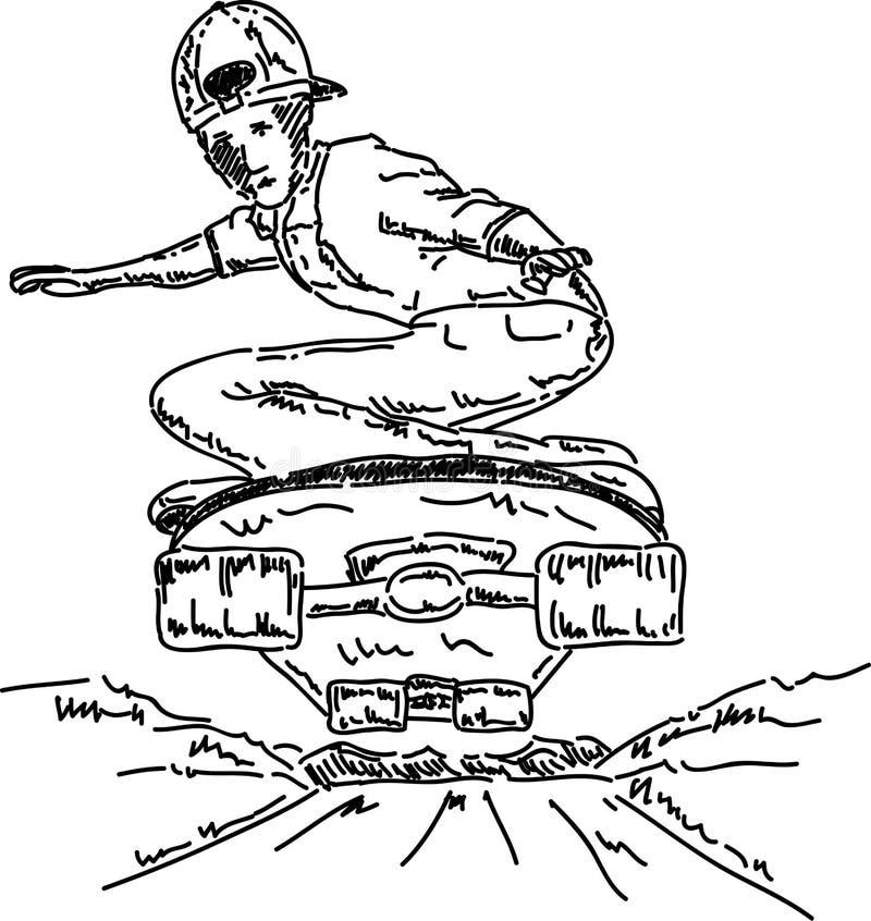 Menino do skater ilustração stock