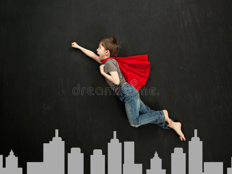 Menino do super-herói imagens de stock
