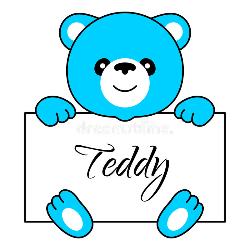 Menino do urso dos desenhos animados ilustração stock