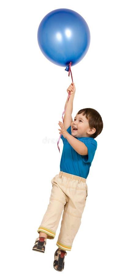 Menino e balão foto de stock royalty free