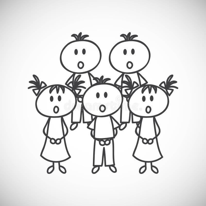 Menino e menina ilustração royalty free