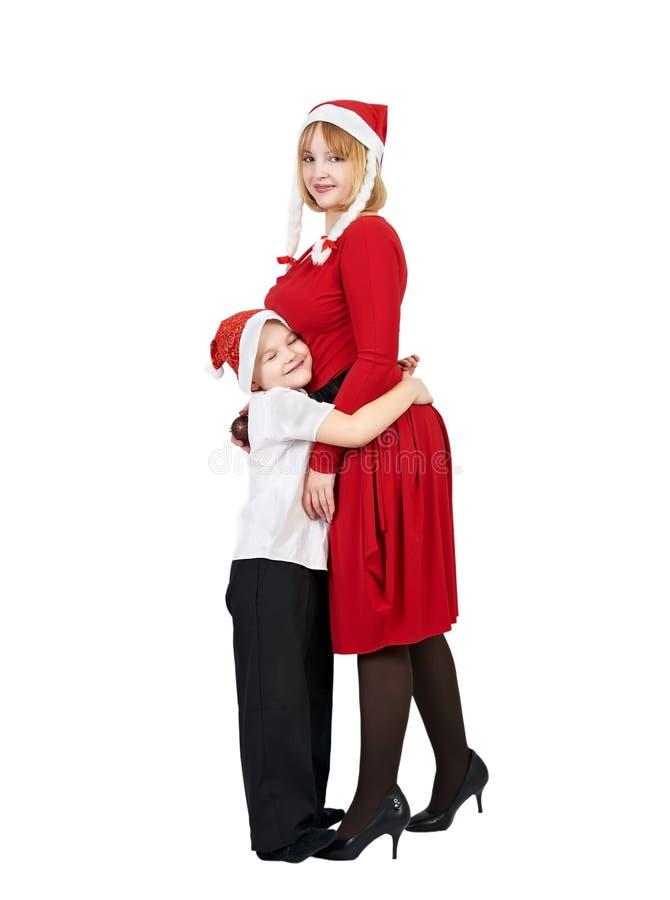 Menino e mulher fotos de stock
