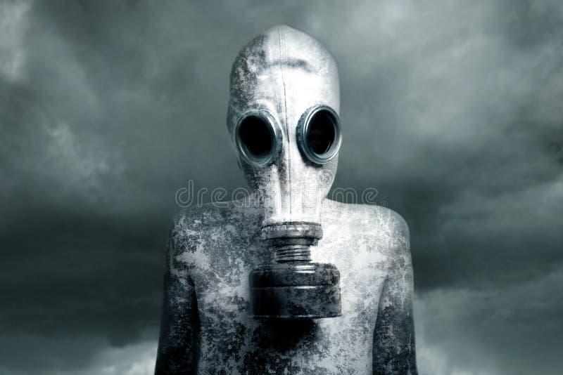 Menino e uma máscara fotografia de stock
