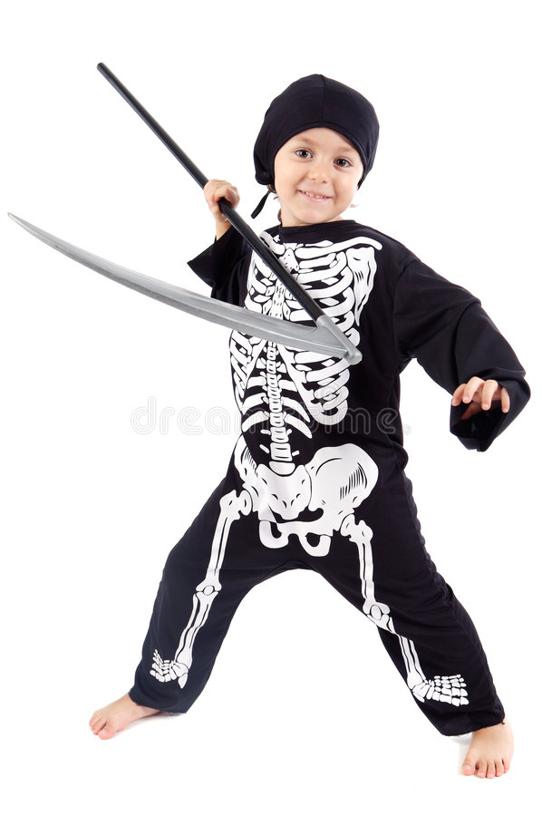 Menino em Halloween fotografia de stock