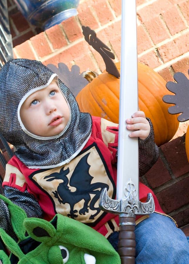 Menino em Halloween fotografia de stock royalty free