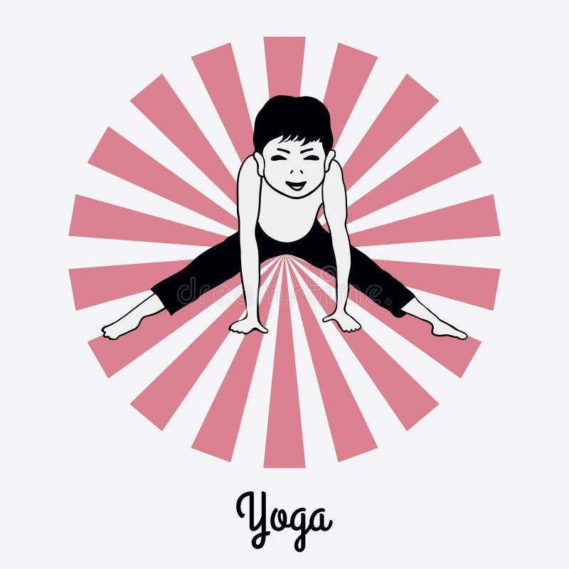 Menino em uma pose 5 da ioga imagem de stock royalty free