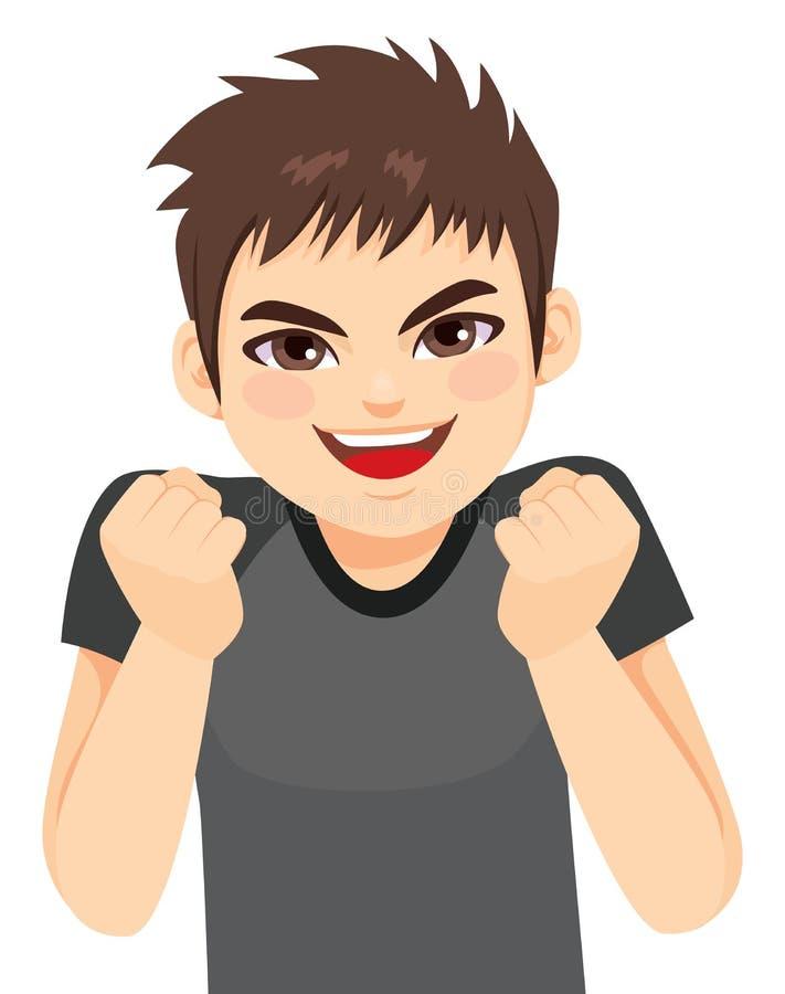 Menino entusiasmado do adolescente ilustração royalty free