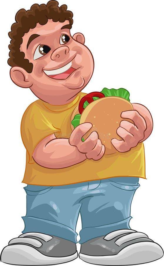 Menino gordo ilustração stock