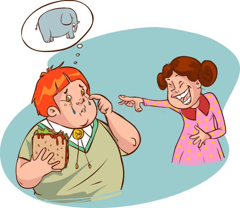 Menino gordo ilustração do vetor