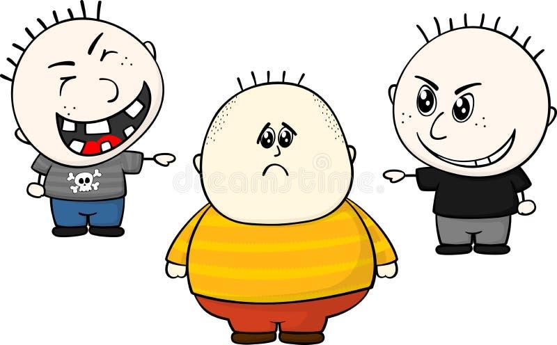 Menino gordo de arrelia ilustração do vetor