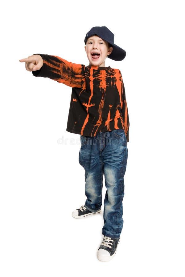 Menino gritando fotografia de stock