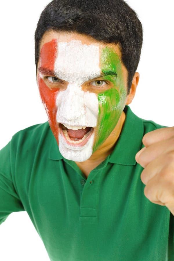 Menino gritando italiano fotografia de stock